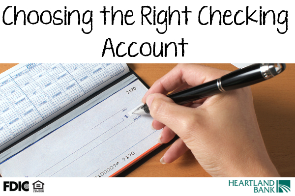 Choosing the right checking account is important and we want to help guide you the right best account for you.