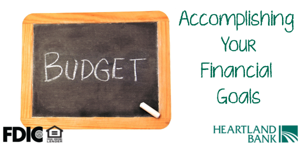 Accomplishing your financial goals all starts with creating a monthly budget and sticking to it.