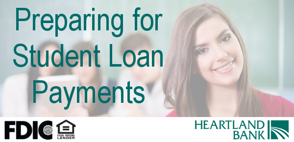 Preparing for student loans can help you understand your loans and to make timely payments.