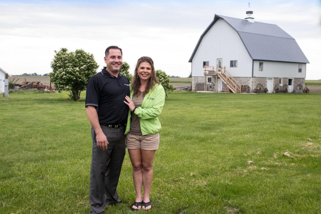 John and Katie at their barn